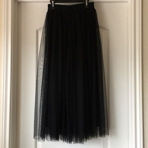 Black long tutu skirt Tulle maxi